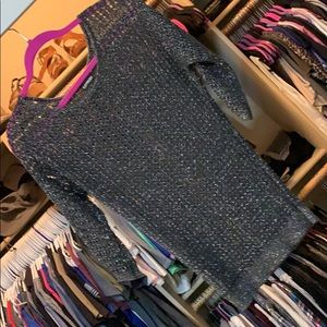 Express sheer sparkle sweater